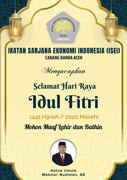 Ucapan Idul Fitri – ISEI Banda Aceh